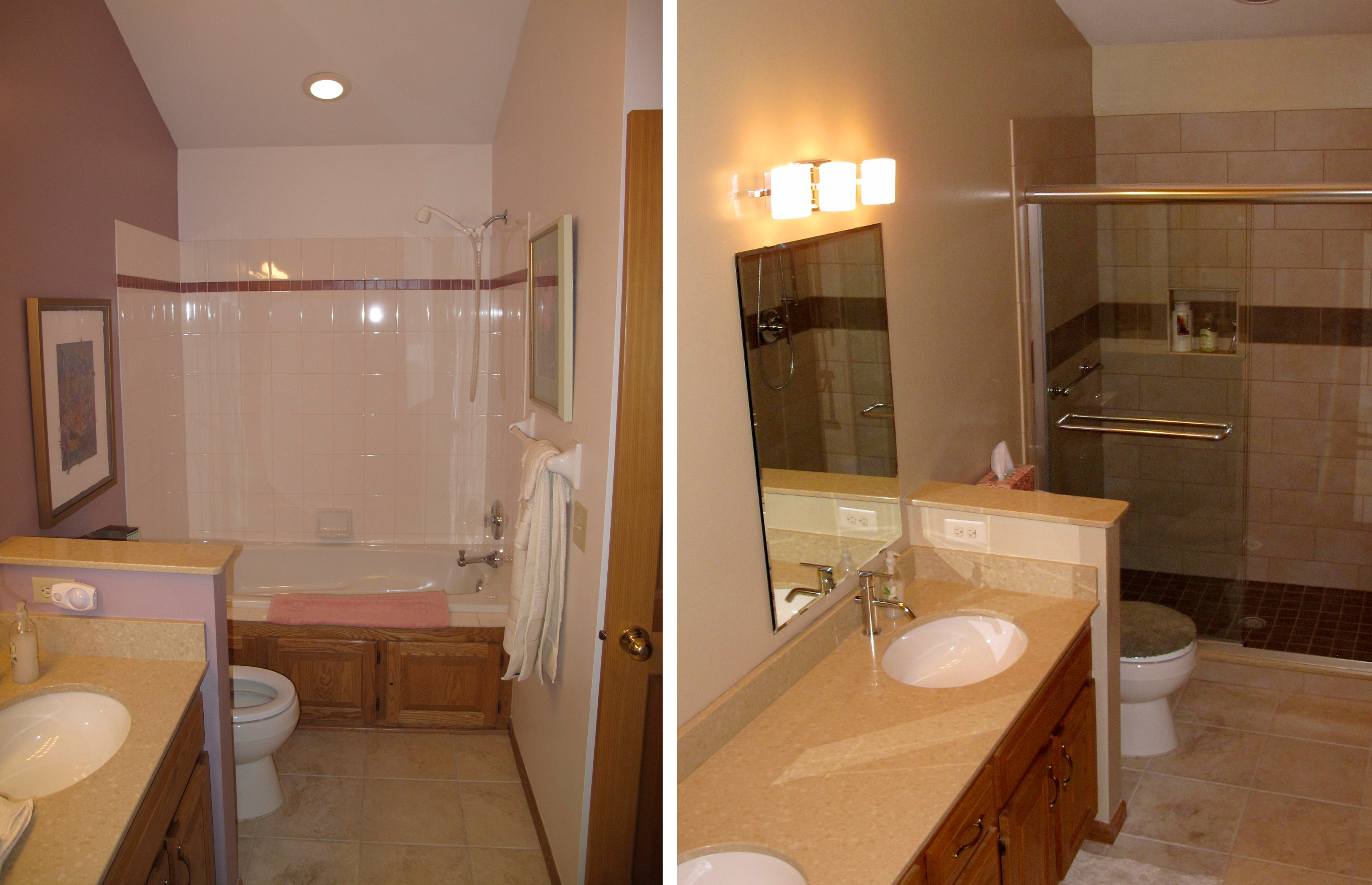 Dbc extreme makeover making your house feel like home for Bathroom remodel pics